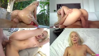 SPLIT SCREEN COMPILATION ELSA JEAN - TRY NOT TO CUM CHALLENGE