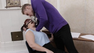TUTOR4K. Instead of studying algebra boy has sex with red-haired tutor
