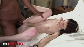 Sweet Polite Office Temp Marnie Is Pale Pussy Pounded By A Big Black Cock!