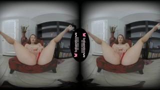 Solo redhead girl Arietta Adams is about to cum in VR