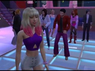 The sims 4 sex mod/disco club party/disco game at group
