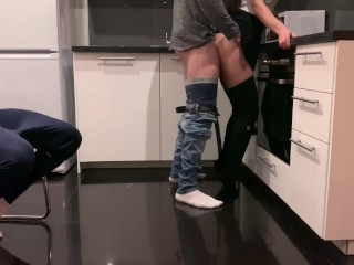 Gave his wife a big dick of his friend for her birthday