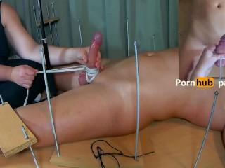 Amateur Femdom CFNM. Feet Tickling and then Long Tease Handjob. Double Ruined Orgasm + Post Orgasm