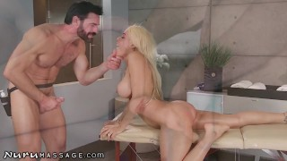 NuruMassage Luna Star Can't Stop Squirting Hard While Being Spanked & Fingered Deep