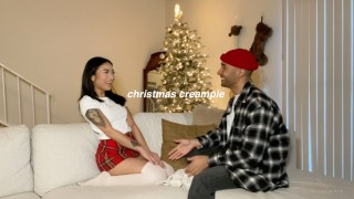 CHRISTMAS CREAMPIE - Raw unedited sex tape with Avery Black