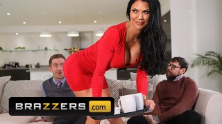 Brazzers – Busty Wife Jasmine Jae Jumps On Her Husband's Friend Big Cock