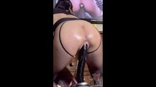 "Extreme Squirting - MILF Fucks Pussy Deep w/ 15"" BBC Dildo"
