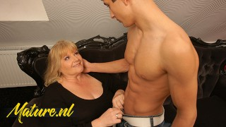 BBW Granny Gets Her Fat Ass Fucked By a Shredded Guy