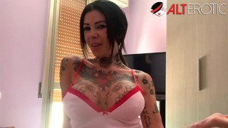 Busty Megan Inky shows off her ink during quarantine