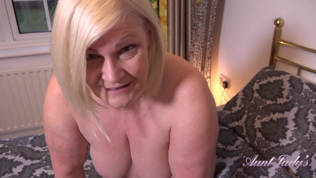 AuntJudys .. 61yo BUSTY BBW GILF Lacey SUCKS YOUR COCK - Virtual POV