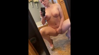 Goddess milf masturbating naked for all to see... you can hear her wet pussy