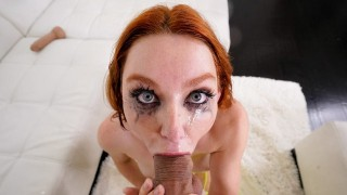 Throated – Redhead Lacy Lennon Sloppily Throat Fucked
