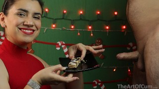 Screen Capture of Video Titled: Merry Xmas 2020! - Cum on food 7