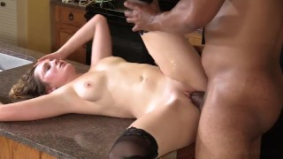 """""""Fuck me daddy"""" Says 20yo LifeGuard Renee While Pounded By Big Black Cock!"""