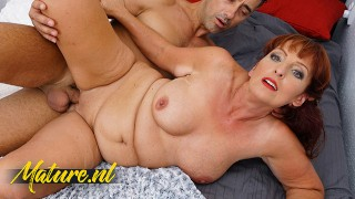 MatureNL Redhead MILF Gets Her Mouth Filled With Cum