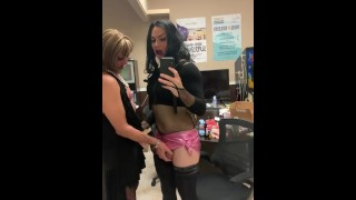 Chrissy and Mummie Drag Queen Shemale Tranny Tgirl Crossdressers Grinding Cocks