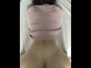 A student with a cool ass loves when she is fucked hard
