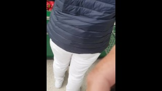 Muslim Step mom in Hijab Sucks Cock, Fucks and Swallows Cum of Step son in green supermarket