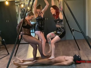 Sadistic Queens - Extreme Ball Stomping Compilation 2020 (CBT Trampling)