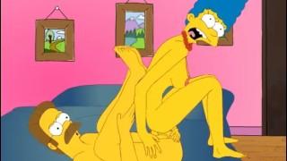 Sexfilme - Big Boobs Die Simpsons Marge X Flandern Cartoon Hentai Spiel P63