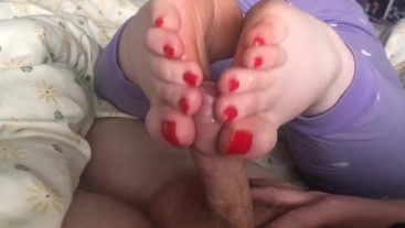 12 Days of Christmas: My Soft Red Toes Make His Dick Feel So Good!