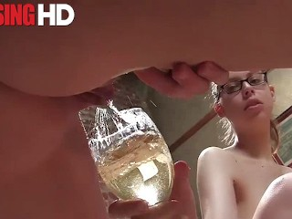 Three kinky ladies take turns pissing on each other