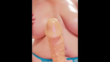 Sexy BBW fucks her tits, takes her toys deep, and squirts in your face. Stacey38G