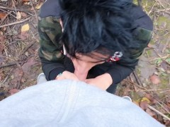 Friends help each other with emptying their balls - First gives ass , second gives mouth