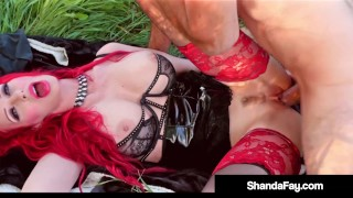 Outdoor Pussy Fucking With Busty Horny Housewife Shanda Fay!