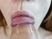 ASMR / fucked her in the mouth. Cum in the mouth of a schoolgirl.