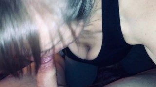 Friends stepmom always wants to suck on my cock when I stop by. Love's when I cum in her mouth