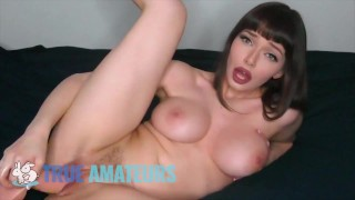 True Amateurs – Busty & Horny Babe Jessica Fills Her Wet Pussy With Her Dildo