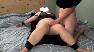 milf tied down and blind folded