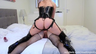 Alt girl pegs her slut HARD. He's in love with my big cock /Femdom, Pegging