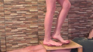 Goddess of bare feet trampled manhood full weight to the cumshot – CBTrample