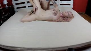 Hogtied orgasm