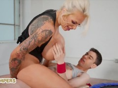 Lil Humpers - British Milf Sophie Anderson Doesn't Miss The Chance To Taste Jordi's Huge Dick