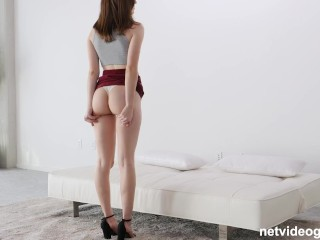 19 Year Old With A Perfect Butt Getting Fucked Just Like She Wanted