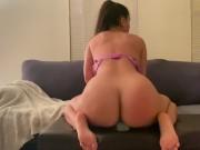 Tight slut Allie Peach craves a real cock