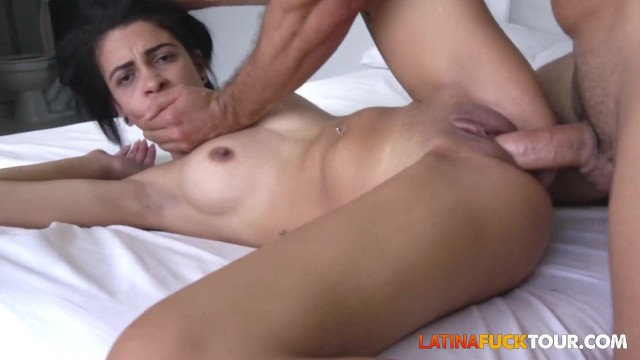 Sexy Latina Rebel Babe Gets AnalFucked By Big White Cock