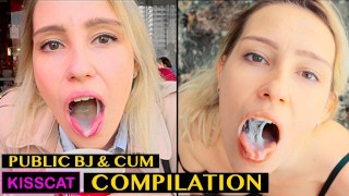 Risky Blowjob with Cum in Mouth & Swallow – Public Agent Pickup Student to Outdoor Sucking / Kisscat