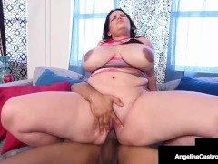 Crazy Cuban Cock Sucking By Insatiable BBW Angelina Castro!