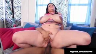 Crazy Cuban Cock Sucking By Insatiable BBW Angelina Castro!