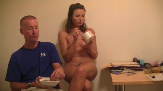 Helena Price Home Movies 12 – A snack, cum cleaning, and chatting like a slutty wife!