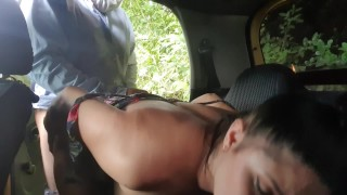 MartinaSmith pays her taxidriver with her young pussy