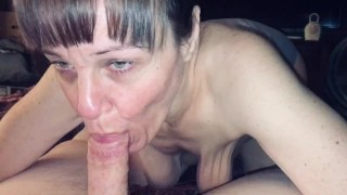 Mature Step mom loves sucking me dry and swallowing every last drop of cum