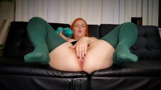 Ivy Fucks Her Pumped Pussy With Mr. Hankey's Large Seahorse!