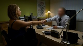 LOAN4K naive chick gets fucked on the desk in the office