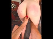 SPANKING DIDLO FUN - INTENSE ORGASM