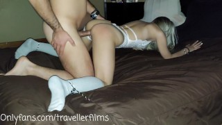 Petite Teen Tied Up And Used By The Neighbor -Travellerfilms